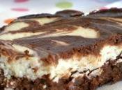 Brownies marbrés fromage blanc banane spéculoos...sans beurre farine