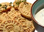 Biscuits apéritifs origan-parmesan leur moutardé ciboulette