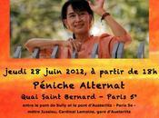 Grande fête d'hommage Aung Kyi, jeudi juin, partir heures, Péniche Alternat quai Saint-Bernard! Réservez vite faites circuler!