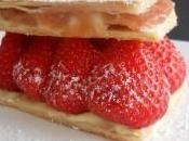 Belge Attitude: fraise Wépion Mille feuilles fraises rhubarbe