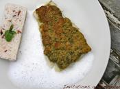 cabillaud croute parmesan basilic, émulsion