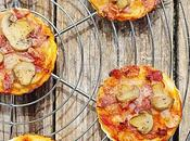 Pizza mini pizzas) mozzarella, bacon champignon
