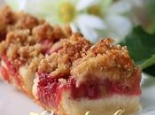 Carrés rhubarbe fraises
