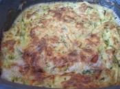 clafoutis courgettes/champignons/bacon roquefort