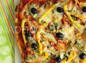Pizza chorizo poivrons trois couleurs