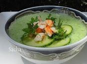 Soupe froide concombre crabe Lavande plateau Valensole