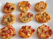 Mini-quiches (sans pâte) Feta Poivrons fromage blanc