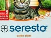 Effets indésirables chez chat avec colliers antiparasitaire Seresto Bayer)