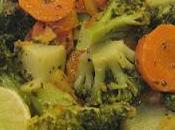 Idée poélée légumes brocolis carottes citron basilic