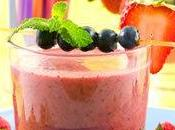 Mousse fromage blanc fruits