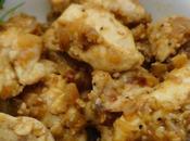 Bouchées poulet vapeur, sésame orange