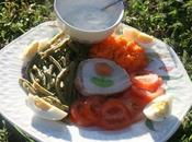 ASSIETTE FROIDE JARDIN sauce fromage blanc