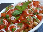 Salade pois chiches tomates menthe