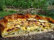 Tarte courgettes, jambon poulet camembert