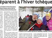 supporters d'Anaïs Bescond préparent l'hiver tchèque