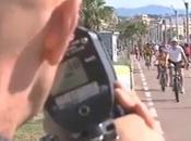 Lance Armstrong verbalisé pour excès vitesse piste cyclable Cagnes-sur-Mer