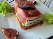 Terrine fromage frais, figue, noix jambon Bayonne