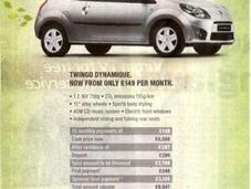 Voiture écologique Renault condamné retirer publicités Grande Bretagne)