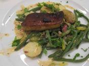 Salade liégeoise, foie gras poêlé, moutarde ancienne citron confit
