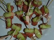 Bouchées saumon gingembre mariné