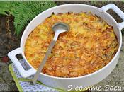 gratin courge spaghetti poireaux, lardons comté
