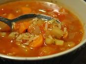 Soupe chou tomates