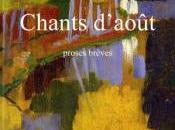 Prix Poésie Chants d'août d'Alain Gagnon…