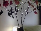 """arbre d'Halloween... comment détourner """"branches cerisier"""" lumineuses chez Nature Découvertes..."""