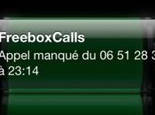 Freebox Revolution appels manqués affichés iPhone