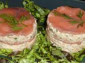 Millefeuille saumon crabe