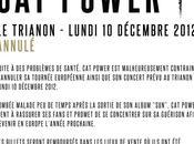 Power annule tournée européenne