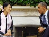 Aung sera toutes premières personnalités auxquelles Barack Obama rendra visite