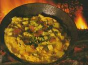 Omelette deux pommes saumon fumé