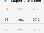 Android mois décembre n'existe