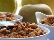 Compote coings pommes crumble pignons