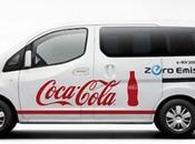 Coca Cola Japon teste l'e-NV200 Nissan