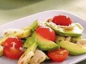 Salade d'avocats, champignons tomates