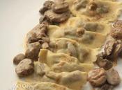 Ravioles champignons Paris marrons, bolets, cèpes persil