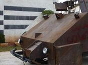 rebelles syriens fabriquent Tank piloté manette Playstation