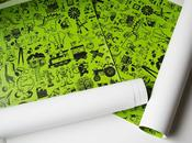 e-glue custom mixture wallpaper kids room