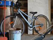 vélo bois chauffe dans grange