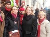 Avec Martine Billard, coeur lutte classes Virgin Paris