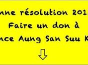 """Post-it: """"Bonne résolution janvier 2013 faire France Aung pour soutenir missions!"""""""