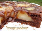 tarte-cake-mousse chocolat poire Christophe Felder