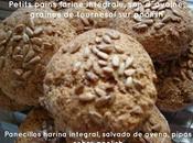 Petits pains farine intégrale, d´avoine, graines tournesol poolish Panecillos harina integral, salvado avena, pipas sobre