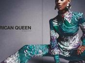 fille blanche maquillee noire pose couverture d'un magazine tant african queen