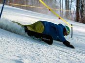 Slalom extrême snowboard alpin