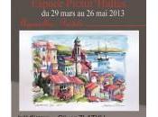 Exposition aquarelle-pastel l'Espace Pictur'Halles Morestel mars 2013