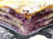Gateau crèpes crème vanille confiture myrtilles