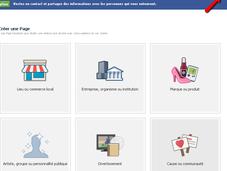 Créez votre page Facebook entreprise étapes